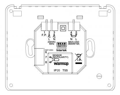 Tempo thermostaat achterplaat handleiding