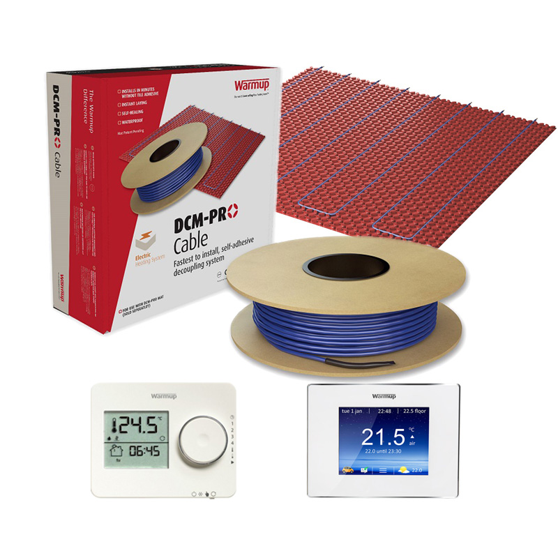 Vloerverwarming elektrisch d.m.v. het DCM-PRO systeem (verwarmingskabels)