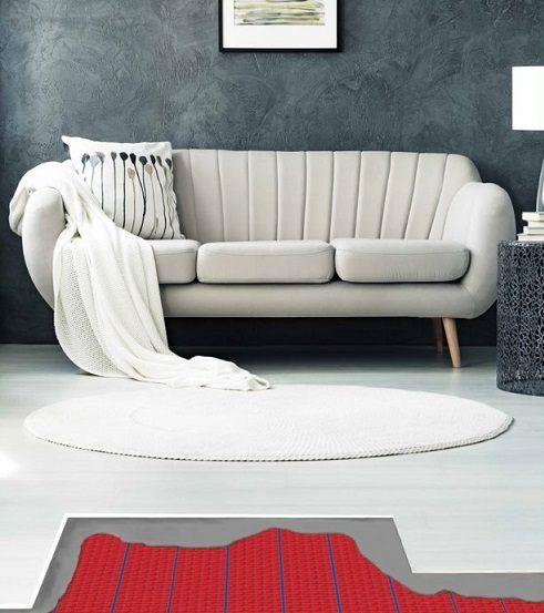 Elektrische vloerverwarming woonkamer
